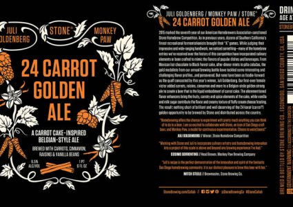 Juli Goldenberg/Monkey Paw/Stone 24 Carrot Golden Ale
