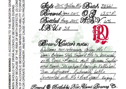 New Glarus Golden Ale 2015