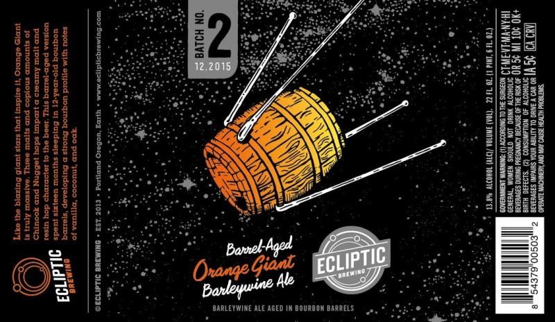Ecliptic Brewing - Barrel Aged Orange Giant 2015