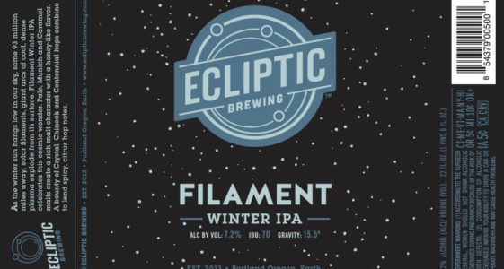 Ecliptic Brewing - Filament Winter IPA (Label)
