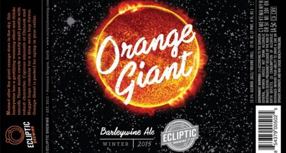 Ecliptic Brewing - Barrel Aged Orange Giant 2015