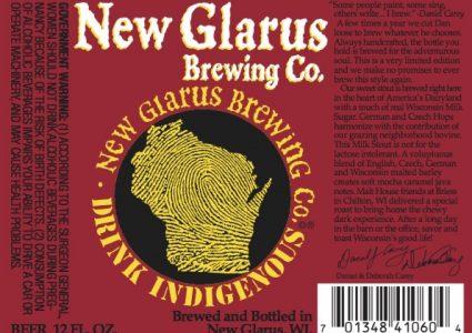 New Glarus Milk Stout Label