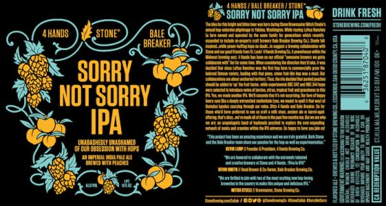 Stone Sorry Not Sorry IPA
