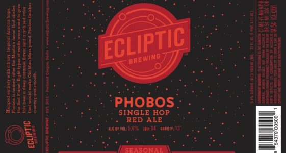 Ecliptic Brewing - Phobos Single Hop Red Ale