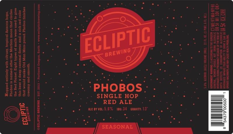 Ecliptic Brewing - Phobos Single Hop Red Ale