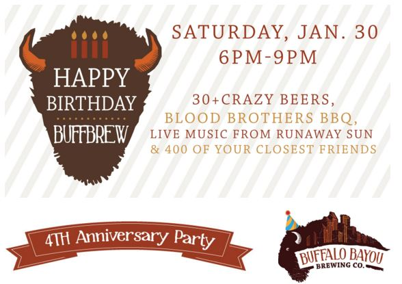 Buffalo Bayou Brewing 4th Anniversary