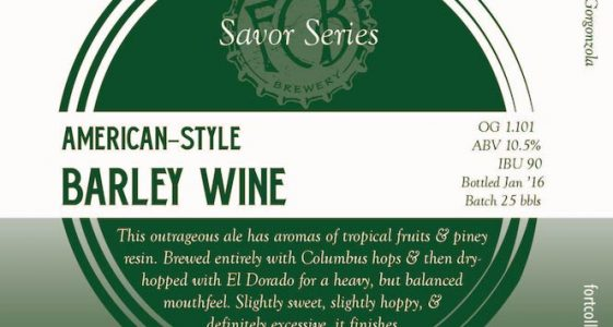 Fort Collins American-Style Barley Wine