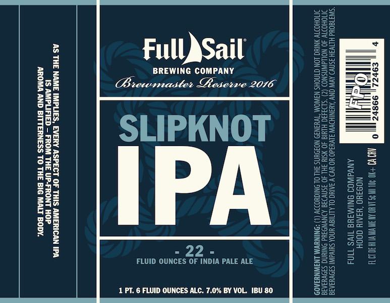 Full Sail Slipknot IPA 2016