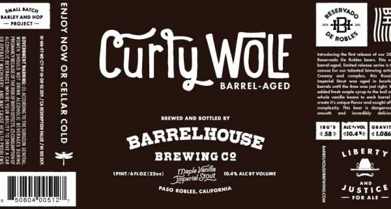 BarrelHouse 2016 Curly Wolf
