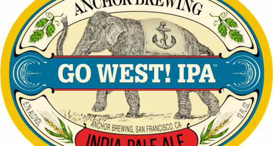 Anchor Brewing - Go West! IPA (label)