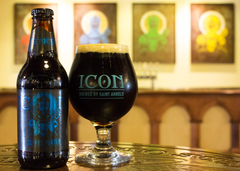 Saint Arnold - Icon Blue Coffee Porter (glass)