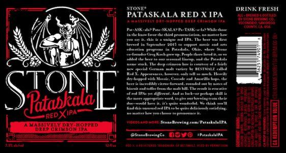 Stone Brewing Co. Pataskala Red X IPA