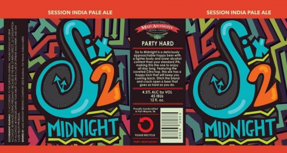 Mad Anthony Six 2 Midnight Session IPA