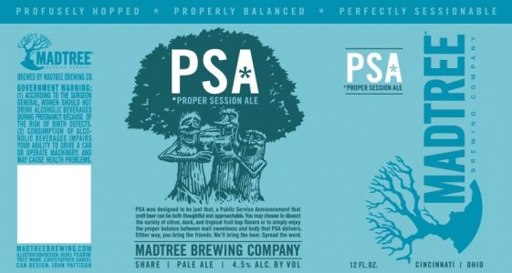 MadTree Brewing - PSA (Label)