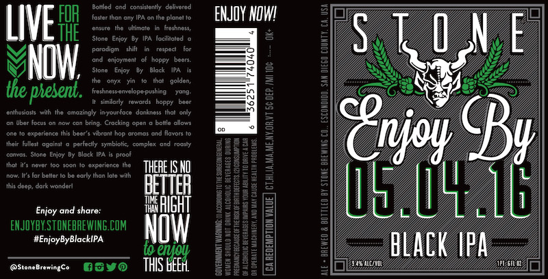Stone Enjoy By 05.04.16 Black IPA
