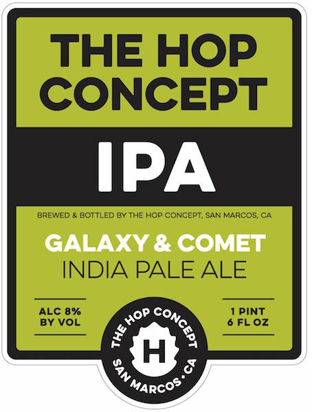 The Hop Concept Galaxy and Comet IPA