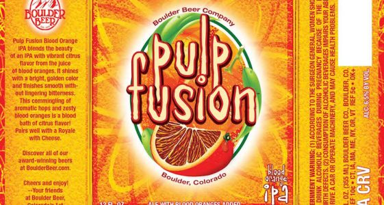 Boulder Beer - Pulp Fusion Blood Orange IPA