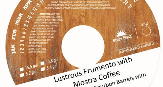 Green Flash Cellar 3 Lustrous Frumento with Mostra Coffee