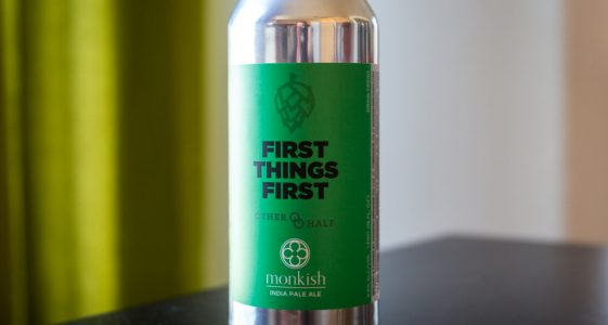 The 4B Flight - Beer 1 - Monkish Brewing Company - First Things First - Small