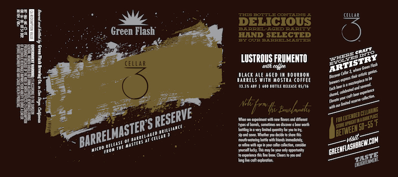 Green Flash Cellar 3 Lustrous Frumento with Coffee