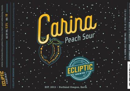Ecliptic Brewing - Carina Peach Sour