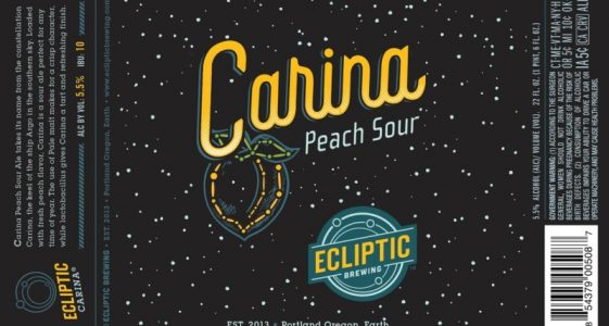 Ecliptic Brewing - Carina Peach Sour
