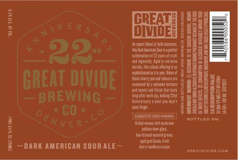 Great Divide 22nd Anniversary Ale