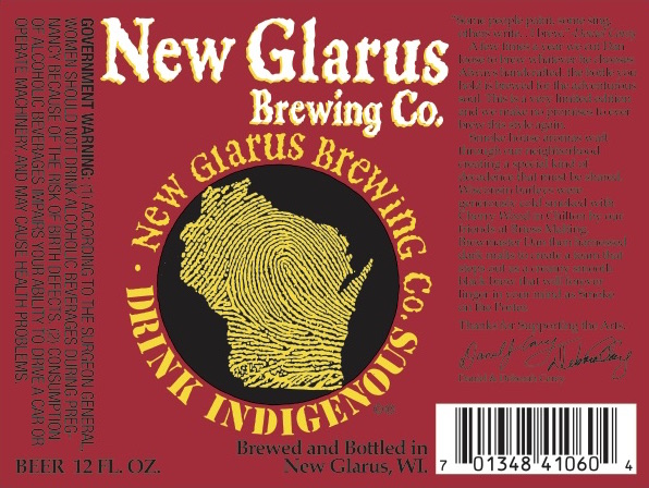 New Glarus Smoke on the Porter Body 2016