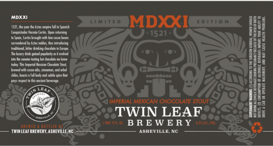 Twin Leaf MDXXI Mexican Chocolate Stout