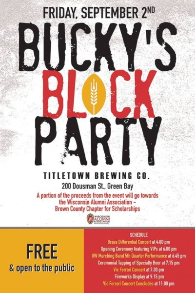 Titletown Brewing - Bucky's Block Party