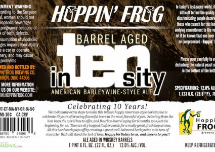 Hoppin Frog Barrel Aged In-Ten-Sity