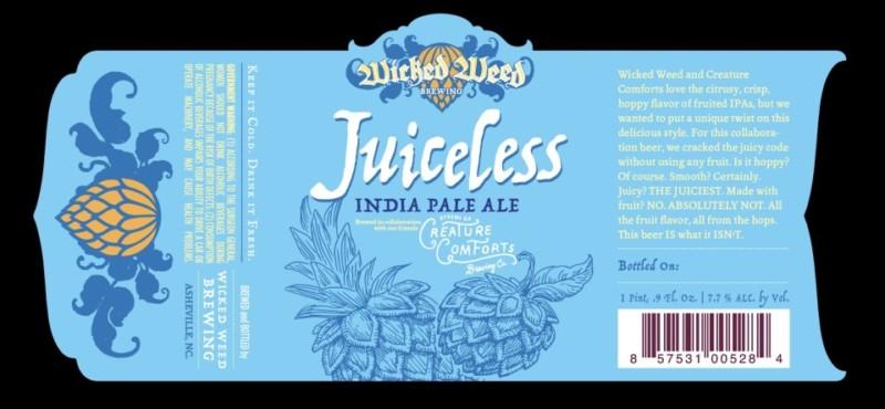 Wicked Weed / Creature Comforts - Juiceless IPA