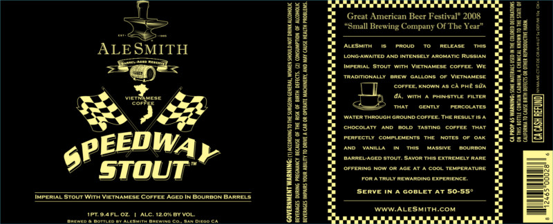 alesmith speedway stout release date Alesmith brewing recently announced a new variation of their popular speedway stout, which has become one of the beers that they are best known for nibs and beans speedway stout was originally released during their annual 3-day speedway grand prix ska brewing to release twelve hangry men beer events.