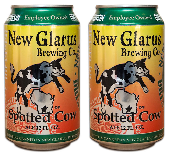 new glarus spotted cow now in cans