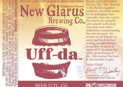 New Glarus Uff-Da Bock 2016 Label