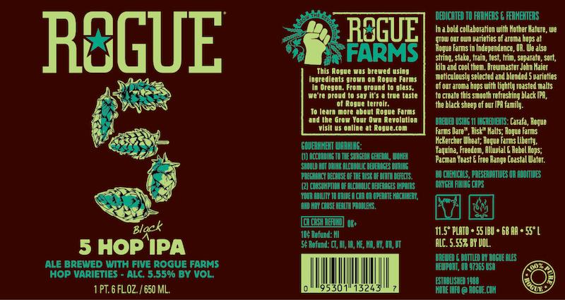 Rogue Ales 5 Hop Black IPA