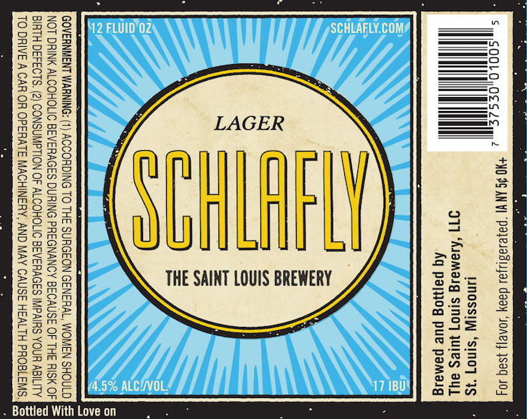 Schlafly Lager Label