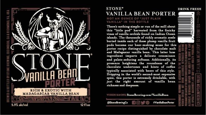 Stone Vanilla Bean Porter