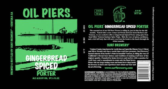 Surf Brewery Oil Piers Gingerbread Spiced Porter