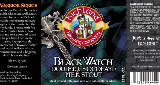 Highland Brewing Black Watch Double Chocolate Milk Stout