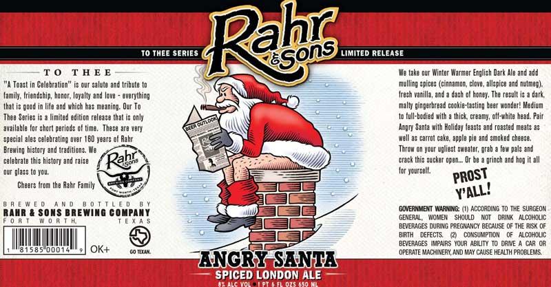Rahr and Sons Angry Santa