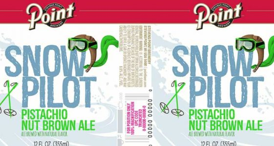 Stevens Point Snow Pilot Pistachio Nut Brown Ale Can Label