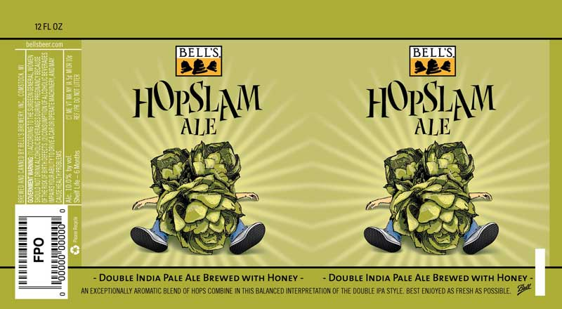 Bell's Hopslam 2016 Can Label
