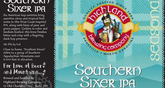 Highland Brewing Southern Sixer IPA
