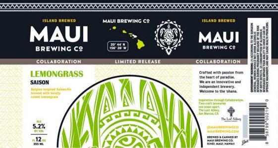 Maui Brewing Lemongrass Saison
