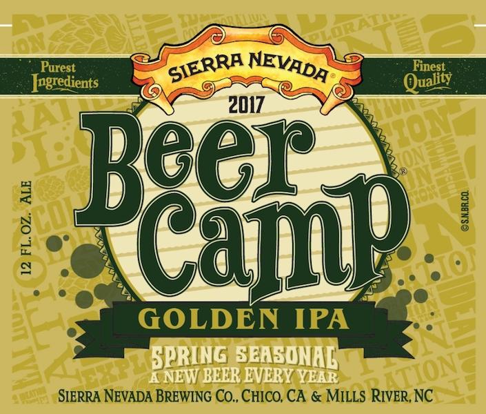 Sierra Nevada 2017 Beer Camp Golden IPA Label
