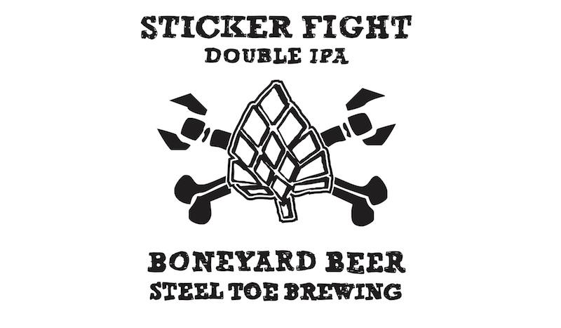 Boneyard Steel Toe Sticker Fight