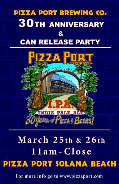 Pizza Port 30th Anniversary