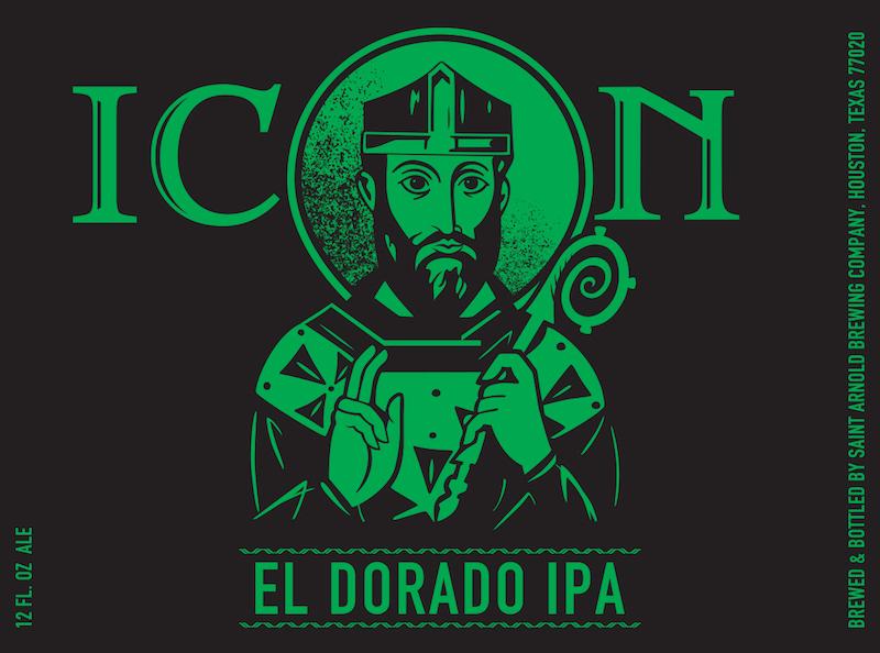 Saint Arnold Icon Green Eldorado IPA