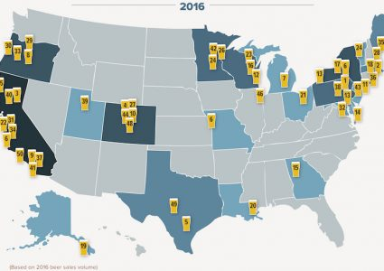 Top 50 Craft Breweries Map